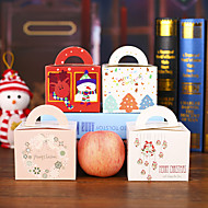 cor aleatória estilosantes 50 Unids diy de dibujos animados de navidad Ao nuevo caja de regalo caramelo lindo cajas de torta la vspera de