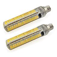 billige Bi-pin lamper med LED-2pcs 420 lm E14 LED-lamper med G-sokkel Tube 136 leds SMD 5730 Varm hvit Kjølig hvit AC 85-265V