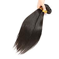 Gerçek Saç Düz Brezilya Saçı İnsan saç örgüleri Düz Saç uzatma 3 Parça Siyah