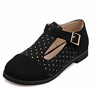 cheap Women's Flats-Women's Shoes Leatherette Spring Summer Flats Flat Heel Round Toe Crystal for Casual Outdoor Office & Career Black Yellow Red Dark Brown