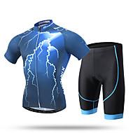 XINTOWN Muškarci Kratkih rukava Biciklistička majica s kratkim hlačama Bicikl Kratke hlače Podstavljene kratke hlače Biciklistička majica