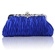 baratos Clutches & Bolsas de Noite-Mulheres Bolsas Cetim Bolsa de Festa Fru-Fru Sólido Vermelho / Rosa claro / Azul Real