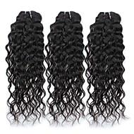 זול -לא מעובד שיער פרואני Water Wave תוספות שיער 3pcs שחור