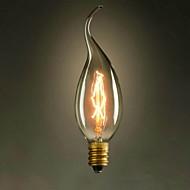 c35l trekk enden av e14 gul 220v-240v 40w liten lyspære edison skruelys