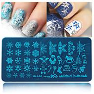 Χαμηλού Κόστους Χριστούγεννα Nail Art-1pcs Πλάκα σφράγισης Πρότυπο τέχνη νυχιών Μανικιούρ Πεντικιούρ Μοντέρνα Καθημερινά / σφράγιση Plate / Ατσάλι
