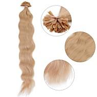 neitsi 20 '' 50グラム/ロットカール波状の事前結合したuの爪の先端の人間の髪の毛の拡張子