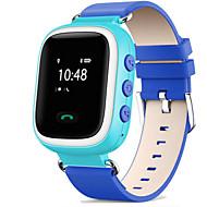 billige Mekaniske Ure-Sportsur / Modeur / Smartur Touch-skærm / Alarm / Kalender Læder Bånd Afslappet Blåt / Orange / Pink / Kronograf / Vandafvisende / Termometer / Fjernbetjening / LED