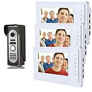 billige Dørtelefonssystem med video-800 x 480 92° CMOS Doorbell System Tilkoblet Fotografert Multifamily video ringeklokke