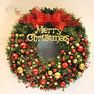 ホームパーティーの直径40センチメートルのためのクリスマスの花輪2色の松葉クリスマスの装飾、新しい年の供給をナビダド