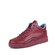 Erkek Ayakkabı Yapay Deri Bahar Sonbahar Kış Rahat Spor Ayakkabısı Uyumluluk Günlük Beyaz Siyah Kırmzı