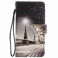billiga Mobil cases & Skärmskydd-fodral Till LG LG Nexus 5X LG K10 LG K7 Korthållare Plånbok med stativ Fodral Utsikt över Staden Hårt PU läder för LG X Power