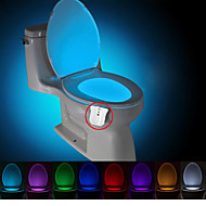 cheap $9.99-BRELONG 1 pc Upgrade Waterproof 8-color Human Body Motion Sensor PIR Toilet Night Light