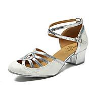 billige Moderne sko-Moderne Kunstlær Joggesko Trimmer Stiletthæl Svart Sølv Blå Kan spesialtilpasses