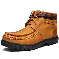 tanie Small Size Shoes-Męskie Komfortowe buty Skóra nappa Jesień / Zima Botki Turystyka górska Ciemnobrązowy / Impreza / bankiet