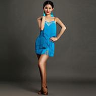 Latin tánc Ruhák Női Teljesítmény Spandex Rojt Ujjatlan Természetes Ruha