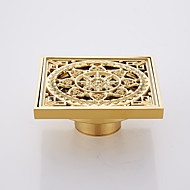 Bathroom Accessory Antique Brass Finish Solid Brass Floor Drain