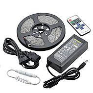 ZDM® 5 m Lyssæt 300LED lysdioder 5050 SMD / 5630 SMD 1 12V 6A adapter / 1 11Køler fjernbetjeningen / 1 DC-kabler Varm hvid / Hvid / Rød Vandtæt / Dekorativ 12 V 1set / IP65
