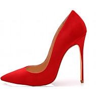 Feminino-Saltos-Conforto Inovador-Salto Agulha-Preto Azul Roxo Vermelho Vinho-Courino Couro Envernizado-Casamento Escritório & Trabalho
