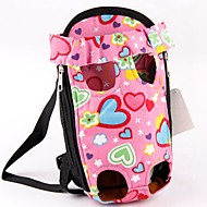 Lovely Pink Heart Shape Front Backpack Bag Carrier for Pets Dogs (Assorted Sizes)