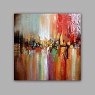 Håndmalte Abstrakt / Landskap olje malerier,Klassisk / Moderne Et Panel Lerret Hang malte oljemaleri For Hjem
