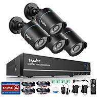 sannce® 4 kanaals 4 in 1 720p HDMI werd bevestigd CCTV DVR 4 stuks 1,0 mp ir buitenbeveiliging bullet camerabewakingssysteem