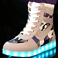 Uniseks Sneakers Lente Herfst Winter Comfortabel Noviteit Light Up Schoenen PU Buiten Casual Sport Platte hak Veters LED Wandelen