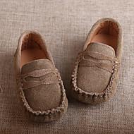 baratos Sapatos de Menino-Para Meninos Sapatos Camurça Mocassim Rasos para Castanho Claro / Khaki