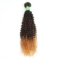 1b / 4/30 ombre σγουρά μαλλιά επεκτάσεις βραζιλιάνα ombre σγουρά υφασμάτινες δέσμες ανθρώπινης τρίχας Βραζιλίας ombre σγουρά μαλλιά