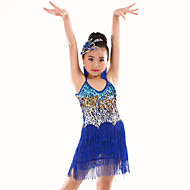 cheap Dancewear & Dance Shoes-Belly Dance Leotards Performance Polyester Sequin Tassel Sleeveless Natural Leotard / Onesie