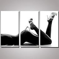 Stilleven Naakt Modern Realisme,Drie panelen Canvas Horizontaal Print Muurdecoratie For Huisdecoratie