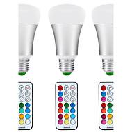 8.5W E26/E27 LEDボール型電球 A80 1 COB 880 lm ナチュラルホワイト RGB K 自動タイプ 赤外線センサー 防水 調光可能 リモコン操作 装飾用 V