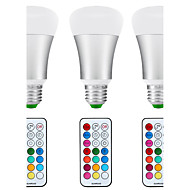 8.5W E26/E27 LED Λάμπες Σφαίρα A80 1 COB 880 lm Φυσικό Λευκό RGB κ Αισθητήρας Υπέρυθρος Αισθητήρας Αδιάβροχη Με ροοστάτη Τηλεχειριζόμενο