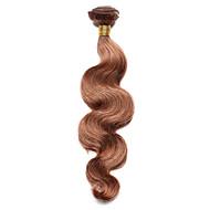 Gerçek Saç Hintli Saçı Precolored saç örgüleri Vücut Dalgası Saç uzatma 1 Parça orta Auburn