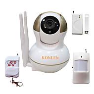 billige IP-kameraer-KONLEN® 1.0 MP Innendørs with IR-kutt Dag Natt Primær 64GB, but micro sd card/TF card not included in the package(Dag Nat