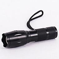 baratos -Lanternas LED LED 800lm 3 Modo Iluminação Com Pilha e Carregador Zoomable / Foco Ajustável / Impermeável Campismo / Escursão /