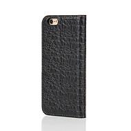 Varten Lomapkko / Korttikotelo / Tuella / Flip Etui Kokonaan peittävä Etui Yksivärinen Kova Aito nahka varten AppleiPhone 7 Plus / iPhone