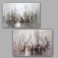 Handgeschilderde Abstract Olie schilderijen,Modern / Klassiek Twee panelen Canvas Hang-geschilderd olieverfschilderij For Huisdecoratie