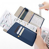 旅行用ウォレット パスポート&IDホルダー 防水 携帯用 防塵 小物収納用バッグ のために ソリッド