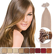 neitsi 20 '' 50g 1g / s előre ragasztott keratin köröm tip emberi póthaj, színes kiemelés Remy haj