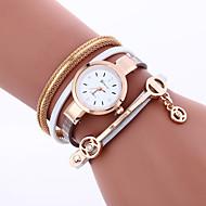 Mulheres Bracele Relógio Relógio de Moda Quartzo Com Strass / imitação de diamante PU Banda Amuleto Boêmio Rígida Preta Branco Vermelho