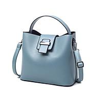 baratos Bolsas Tote-Mulheres Bolsas PU Tote para Casual Cinzento / Azul / Rosa claro