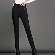 Žene Crn Poliester Jednobojni Jedna boja Legging
