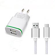 billige -Oplader til hjemmet USB oplader EU Stik Hurtig opladning / Opladerkit 2 USB-porte 3.1 A