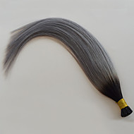 HOT Sale Silver Grey Ombre I tip Human Hair Extensions 1B Grey Straight Hair Ombre Brazilian Hair Grey