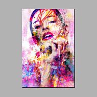 billiga POP Art-handmålade abstrakt / abstrakt porträttoljemålning en panel kanfasoljemålning