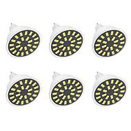 billige Spotlys med LED-240-280 lm GU5.3(MR16) LED-spotpærer G50 24LED leds SMD 5733 Dekorativ Varm hvit Kjølig hvit AC110 AC220 AC 220-240V