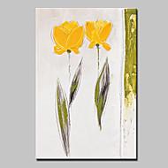 billiga Stilleben-Hang målad oljemålning HANDMÅLAD - Stilleben / Blommig / Botanisk Moderna Inkludera innerram
