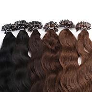 neitsi 20 '' 25グラム/たくさんの自然の波の長Uの爪先端融合人間の髪の毛の拡張子カールのremy毛