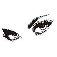 freies Verschiffen Hepburns Augen Vinyl Wandtattoos zooyoo8024 Wandaufkleber 80 * 150cm wasserdichten Fenstern Inneneinrichtungen