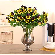 1 piecehigh fluture de calitate flori orhidee flori de mătase de mătase flori flori artificiale pentru decorațiuni interioare (galben)
